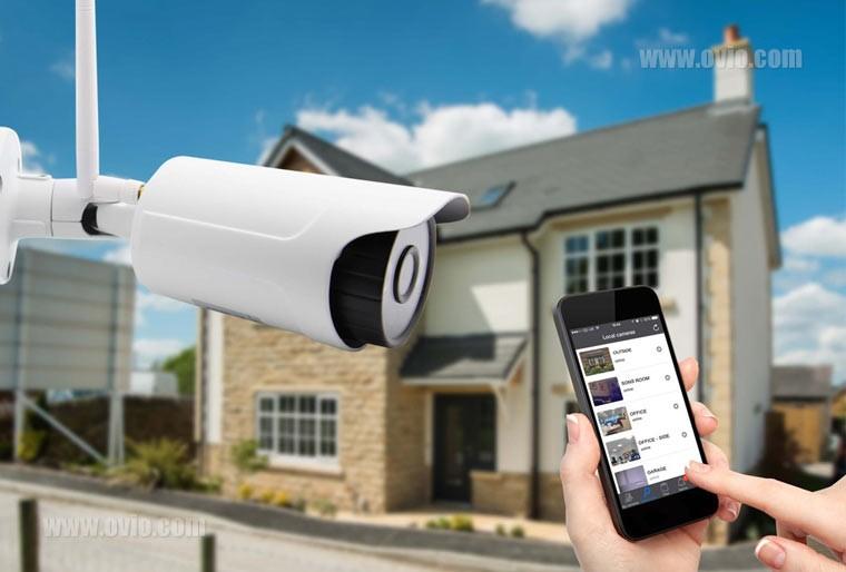 دوربین مداربسته بیسیم در خانه هوشمند
