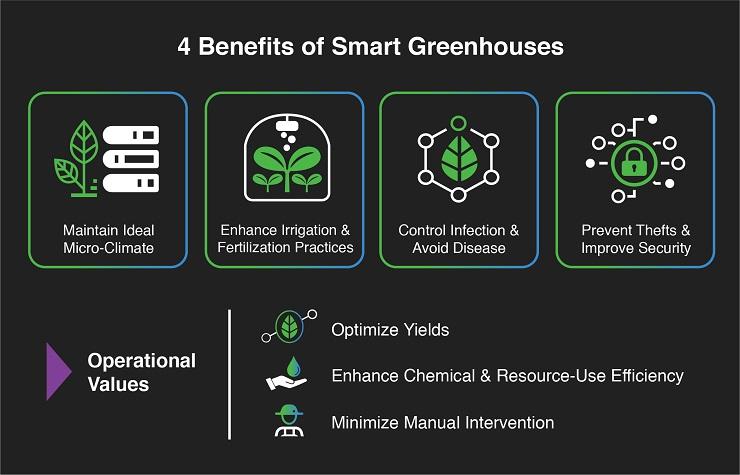 ۴ مزیت هوشمند سازی گلخانه
