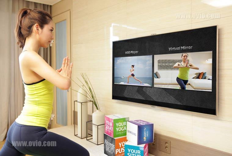ورزش با تلویزیون هوشمند