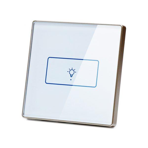 کلید هوشمند تک پل سفید دور پلاستیکی