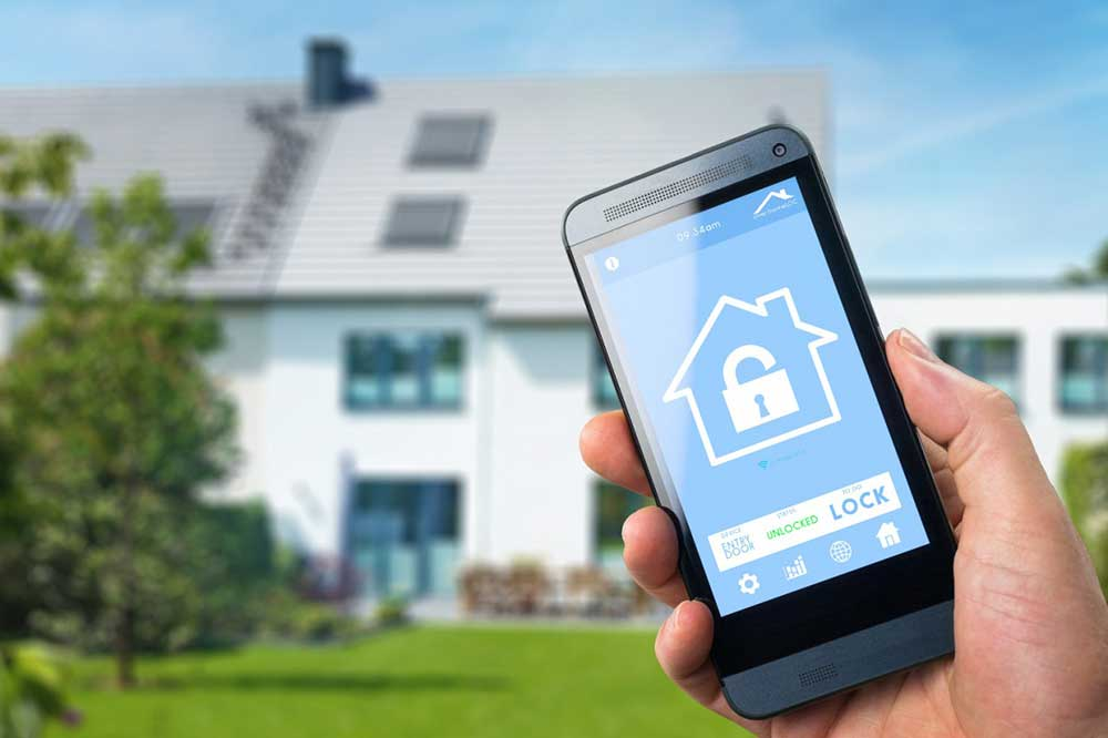 کنترل امنیت خانه هوشمند